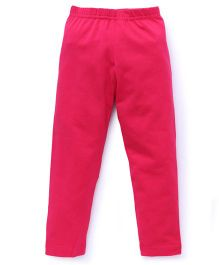 Red Ring Ankle Length Leggings - Pink