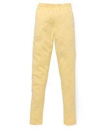 Red Ring Ankle Length Leggings - Lemon Yellow