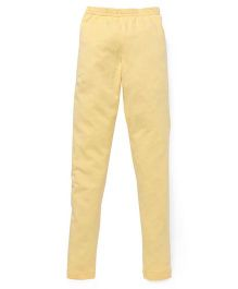 Red Ring Ankle Length Leggings - Lemon Yellow