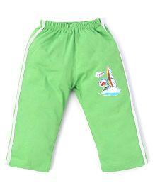 Doraemon Full Length Track Pants - Green