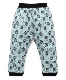 Red Ring Track Pant Ben 10 Print - Light Green