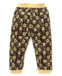 Red Ring Track Pant Ben 10 Print - Coffee Brown