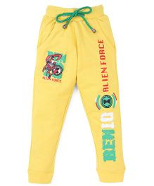Red Ring Track Pant Ben 10 Print - Yellow