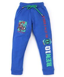 Red Ring Track Pant Ben 10 Print - Blue
