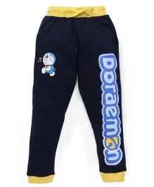 Red Ring Track Pant Doraemon Print - Navy And Yellow