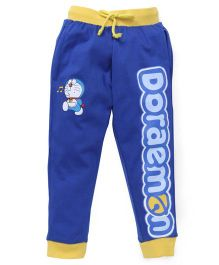 Red Ring Track Pant Doraemon Print - Royal Blue And Yellow