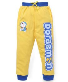 Red Ring Track Pant Doraemon Print - Yellow And Blue