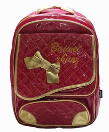 Gamme Bow Print School Backpack - Pink