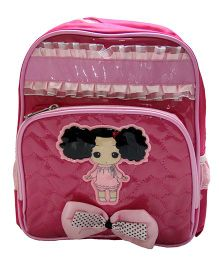 Gamme Cute Doll Print School Backpack - Pink