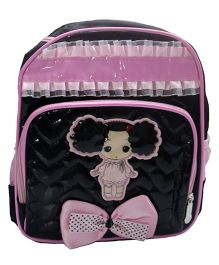 Gamme Cute Doll School Backpack - Black