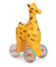 Luvely Press N Go Giraffe - Yellow