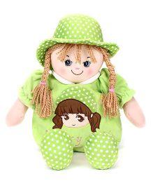 Starwalk Lovely Plush Doll Toy Bag Green - 50 cm