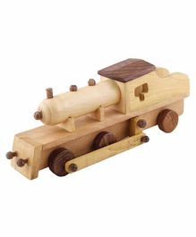 Desi Karigar Wooden Toy Train Engine - Brown