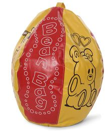 Lovely Bean Bag Giraffe & Dog Print - Red & Yellow