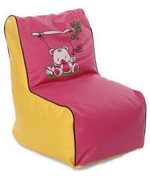 Lovely Bean Chair - Yellow & Pink