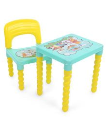 Lovely Table And Chair Set - Yellow Green