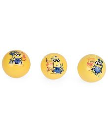 Minions PVC Scented Balls Set Yellow - 3 Pieces