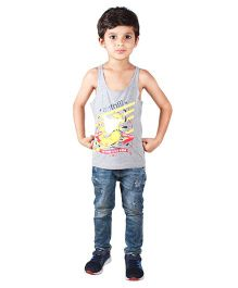 Anthill Sleeveless T-Shirt Duck Print - Grey