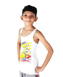 Anthill Sleeveless T-Shirt Duck Print - White
