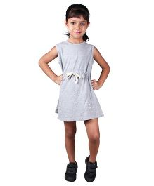 Anthill Sleeveless Varsity Dress - Grey
