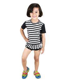 Anthill Swim Wear Set - Black White
