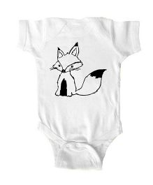 Anthill Half Sleeves Onesie Printed - White