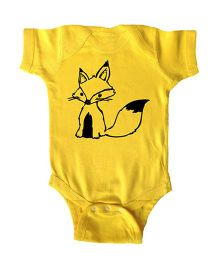 Anthill Half Sleeves Onesie Printed - Yellow