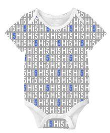 Anthill Half Sleeves Onesie Hi 5 Print - Grey