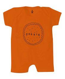 Anthill Half Sleeves Romper Printed - Orange