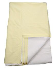 Quick Dry Single Bed Protector - Yellow