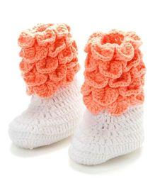 Funkrafts Crochet Crocodile Boots - Peach