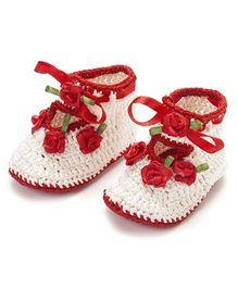 Funkrafts Crochet Sandals - Red & Cream