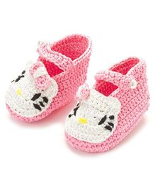 Funkrafts Crochet Kitten Booties - Pink