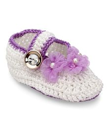 Funkrafts Crochet Stilettos - White & Purple