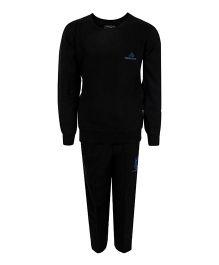 Haig-Dot Full Sleeves Fleece Track Suit - Black