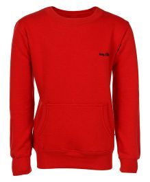 Haig-Dot Full Sleeves Sweatshirt - Red