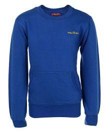 Haig-Dot Full Sleeves Sweatshirt - Blue