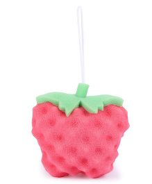 Strawberry Shaped Bath Sponge - Pink