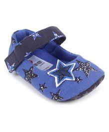 Ivee Baby Anti Skid Soft Sole Booties - Blue