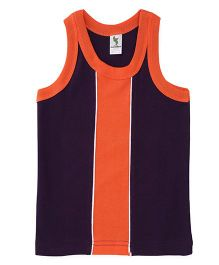 Cucumber Sleeveless Vest - Orange Purple