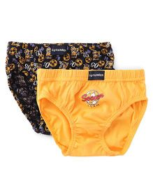 Cucumber Briefs Multi Print Pack Of 2 - Black And Yellow