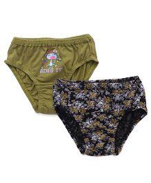 Cucumber Printed Panties Pack Of 2 - Green Blue
