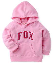 Fox Baby Full Sleeves Hooded Sweatshirt Fox Print - Navy