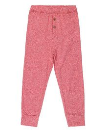 Brown Boy Mini Organic Cotton Comfortable Joggers - Dark Pink