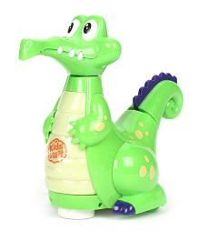 Imagician Playthings Kids Villa Bump N Go Buddy Crocodile- Green