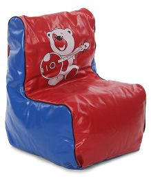 Lovely Bean Chair - Red And Blue