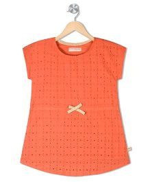 Raine And Jaine Girls Dress - Orange