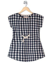 Raine And Jaine Girls Dress - Navy Blue & White