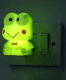 Smiling Frog Shaped Night Lamp - Green