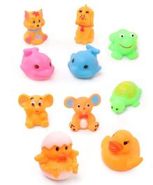 Babyhug Aquatic Animals Bath Toys Set of 10 - Multicolor